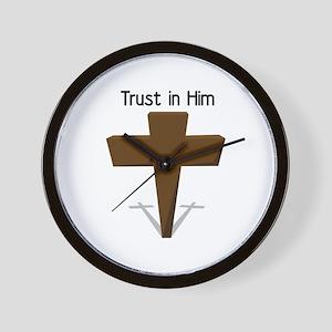 Trust In Him Wall Clock