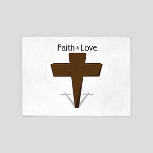 Faith & Love 5'x7'Area Rug