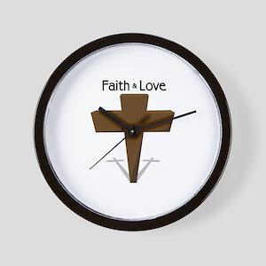 Faith & Love Wall Clock