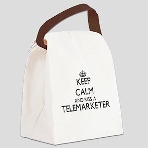 Keep calm and kiss a Telemarketer Canvas Lunch Bag