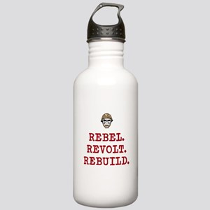 Rebel. Revolt. Rebuild Sports Water Bottle