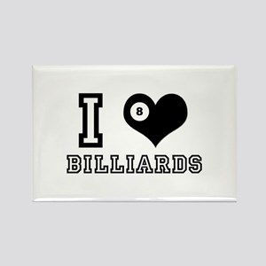 I Heart (Love) Billiards Rectangle Magnet