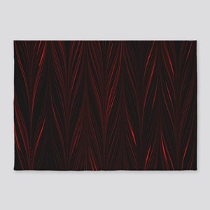Red and Black Zigzag 5'x7'Area Rug