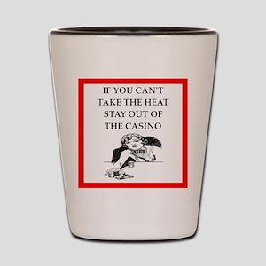 i love casinos Shot Glass