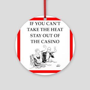 i love casinos Ornament (Round)