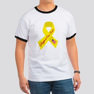 Support Our Troops Ribbon Ringer T
