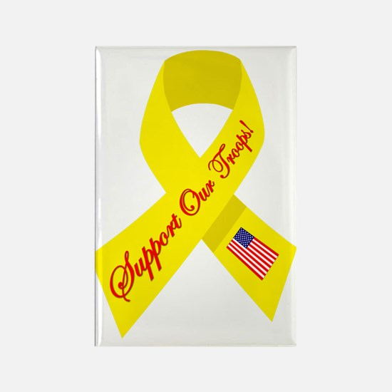 Support Our Troops Ribbon Rectangle Magnet
