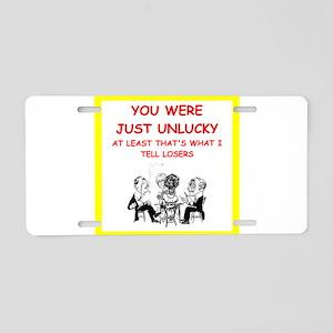 i love card games Aluminum License Plate