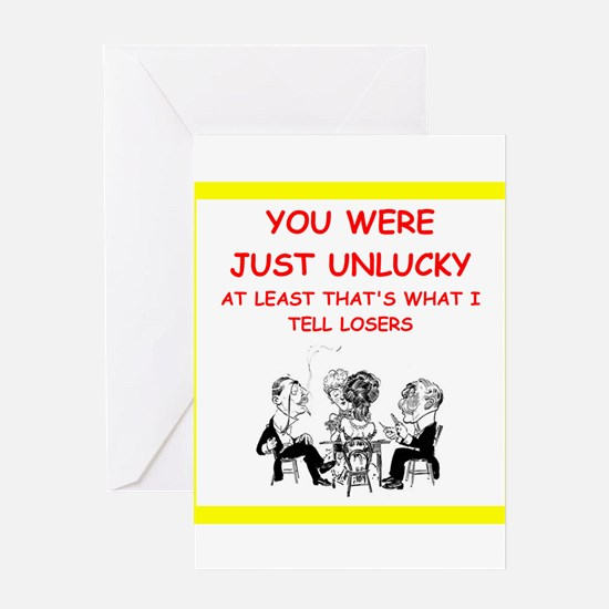 i love card games Greeting Cards