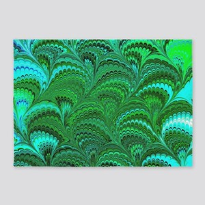 Bright Wild Green 5'x7'Area Rug