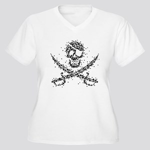 Starry Roger Women's Plus Size V-Neck T-Shirt