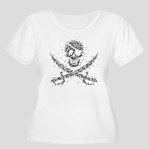 Starry Roger Women's Plus Size Scoop Neck T-Shirt