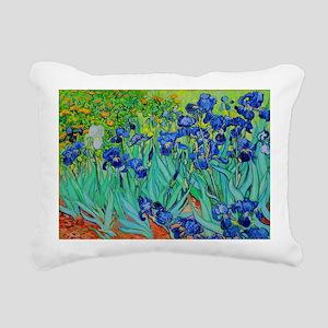 van gogh irises, st. remy Rectangular Canvas Pillo