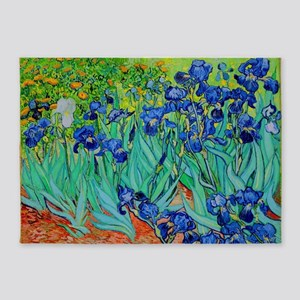 van gogh irises, st. remy 5'x7'Area Rug