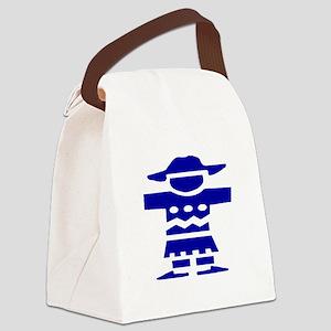 Blue Dutch Boy Canvas Lunch Bag