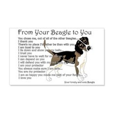 A Beagle's Letter To You Wall Sticker