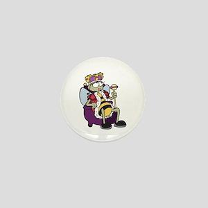 Queen Bee Cartoon Mini Button
