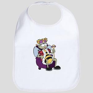 Queen Bee Cartoon Bib