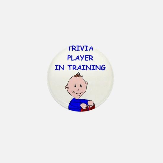 i love trivia Mini Button