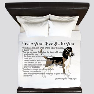 A Beagle's Letter To You King Duvet