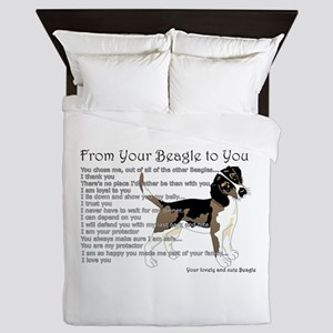A Beagle's Letter To You Queen Duvet