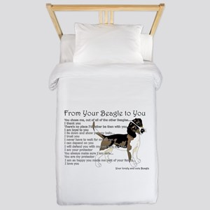 A Beagle's Letter To You Twin Duvet