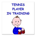 i love tennis Square Car Magnet 3