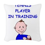 i love tennis Woven Throw Pillow