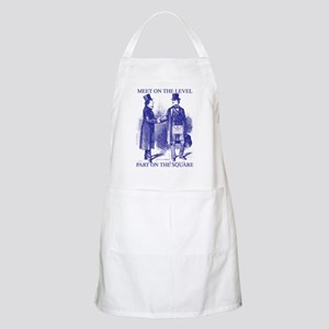 Meeting On the Level - Masonic Blue BBQ Apron