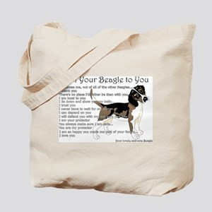 A Beagle's letter to you Tote Bag