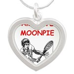 i love tennis Necklaces