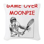 i love tennis Woven Throw Pillow