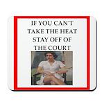 i love tennis Mousepad