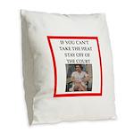 i love tennis Burlap Throw Pillow