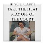 i love tennis Tile Coaster