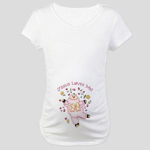 Lamb Jesus Loves Me Maternity T-Shirt