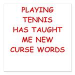 i love tennis Square Car Magnet 3