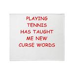 i love tennis Throw Blanket