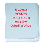 i love tennis baby blanket
