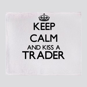 Keep calm and kiss a Trader Throw Blanket