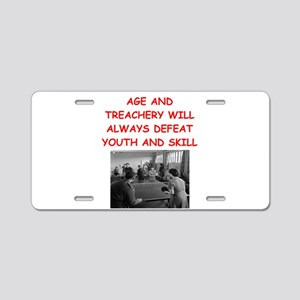 i loce table tennis Aluminum License Plate
