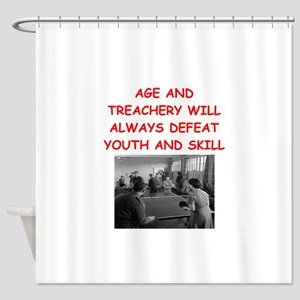 i loce table tennis Shower Curtain