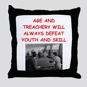 i loce table tennis Throw Pillow