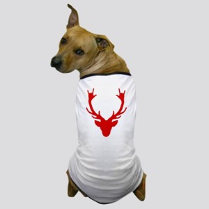 Reindeer with I Love You hand gesture Dog T-Shirt