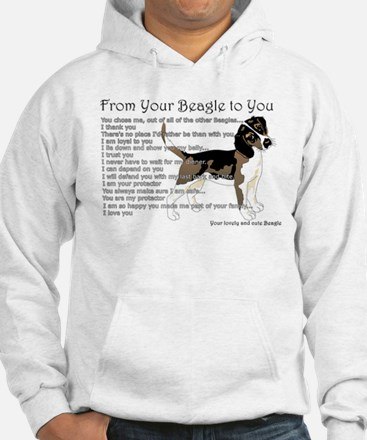 A Beagle's letter to you Hoodie