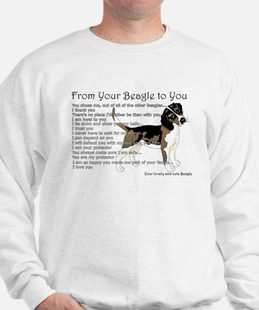 A Beagle's letter to you Sweatshirt