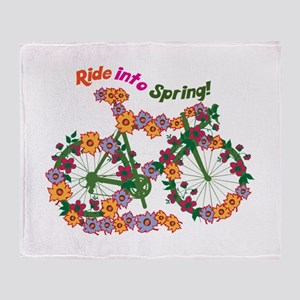Ride Into Spring Throw Blanket