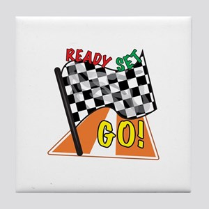 Ready Set Go Tile Coaster
