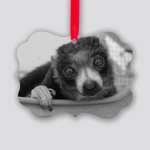'merced' Mongoose Lemur Holiday Picture Ornament