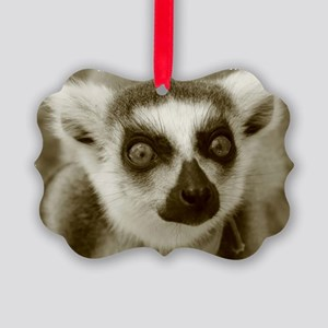 Ring-Tailed Lemur Holiday Picture Ornament